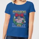 bullseye-bullseye-wreath-women-s-christmas-t-shirt-royal-blue-xl-royal-blue