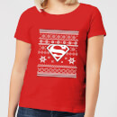 dc-superman-damen-christmas-t-shirt-rot-xl-rot