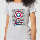 marvel-captain-america-women-s-christmas-t-shirt-grey-5xl-grau