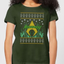 dc-aquaman-knit-women-s-christmas-t-shirt-forest-green-s-forest-green