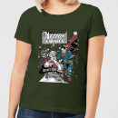 dc-superman-action-comics-women-s-christmas-t-shirt-forest-green-s-forest-green