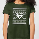 dc-superman-damen-christmas-t-shirt-dunkelgrun-xl-forest-green