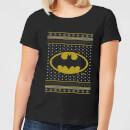 dc-batman-knit-damen-christmas-t-shirt-schwarz-l-schwarz