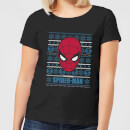 marvel-spider-man-women-s-christmas-t-shirt-black-s-schwarz