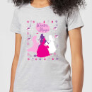 disney-princess-silhouettes-women-s-christmas-t-shirt-grey-l-grau