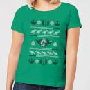 star-wars-yoda-sabre-knit-women-s-christmas-t-shirt-kelly-green-xs-kelly-green