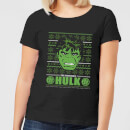 marvel-hulk-face-women-s-christmas-t-shirt-black-s-schwarz