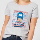 marvel-captain-america-face-women-s-christmas-t-shirt-grey-4xl-grau