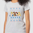 disney-princess-faces-women-s-christmas-t-shirt-grey-m-grau