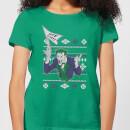 dc-joker-damen-christmas-t-shirt-grun-l-kelly-green