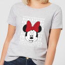 disney-minnie-face-women-s-christmas-t-shirt-grey-m-grau