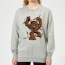 star-wars-tangled-fairy-lights-chewbacca-women-s-christmas-sweatshirt-grey-xs-grau