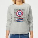 marvel-captain-america-women-s-christmas-sweatshirt-grey-5xl-grau, 19.99 EUR @ sowaswillichauch-de