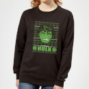 marvel-hulk-face-women-s-christmas-sweatshirt-black-s-schwarz