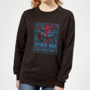 marvel-spider-man-women-s-christmas-sweatshirt-black-s-schwarz