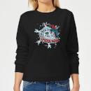 marvel-the-amazing-spiderman-snowflake-web-women-s-christmas-sweatshirt-black-s-schwarz