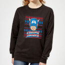 marvel-captain-america-face-women-s-christmas-sweatshirt-black-3xl-schwarz