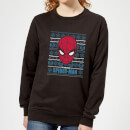 marvel-spider-man-women-s-christmas-sweatshirt-black-3xl-schwarz
