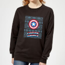 marvel-captain-america-women-s-christmas-sweatshirt-black-3xl-schwarz