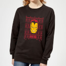 marvel-iron-man-face-women-s-christmas-sweatshirt-black-s-schwarz