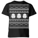 star-wars-stormtrooper-knit-kids-christmas-t-shirt-black-9-10-jahre-schwarz