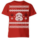 star-wars-stormtrooper-knit-kids-christmas-t-shirt-red-11-12-jahre-rot