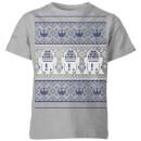 star-wars-r2-d2-knit-kids-christmas-t-shirt-grey-9-10-jahre-grau