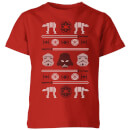 star-wars-imperial-knit-kids-christmas-t-shirt-red-11-12-jahre-rot