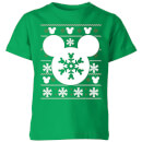 disney-snowflake-silhouette-kids-christmas-t-shirt-kelly-green-9-10-jahre-kelly-green