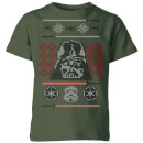 star-wars-darth-vader-face-knit-kids-christmas-t-shirt-forest-green-5-6-jahre-forest-green, 14.99 EUR @ sowaswillichauch-de