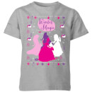 disney-princess-silhouettes-kids-christmas-t-shirt-grey-9-10-jahre-grau