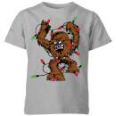 star-wars-tangled-fairy-lights-chewbacca-kids-christmas-t-shirt-grey-9-10-jahre-grau