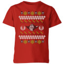 star-wars-yoda-knit-kids-christmas-t-shirt-red-9-10-jahre-rot