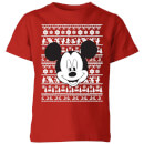 disney-mickey-face-kids-christmas-t-shirt-red-9-10-jahre-rot