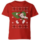 disney-tree-mickey-kids-christmas-t-shirt-red-9-10-jahre-rot