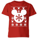 disney-snowflake-silhouette-kids-christmas-t-shirt-red-9-10-jahre-rot