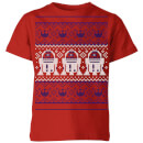 star-wars-r2-d2-knit-kids-christmas-t-shirt-red-9-10-jahre-rot