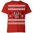 star-wars-darth-vader-knit-kids-christmas-t-shirt-red-3-4-jahre-rot