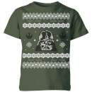 star-wars-darth-vader-knit-kids-christmas-t-shirt-forest-green-5-6-jahre-forest-green