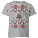 star-wars-empire-knit-kids-christmas-t-shirt-grey-9-10-jahre-grau