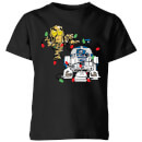 star-wars-tangled-fairy-lights-droids-kids-christmas-t-shirt-black-9-10-jahre-schwarz