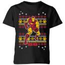marvel-iron-man-kids-christmas-t-shirt-black-3-4-jahre-schwarz
