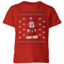 disney-mickey-scarf-kids-christmas-t-shirt-red-9-10-jahre-rot