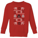 star-wars-imperial-knit-kids-christmas-sweatshirt-red-7-8-jahre-rot