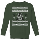 star-wars-darth-vader-knit-kids-christmas-sweatshirt-forest-green-5-6-jahre-forest-green