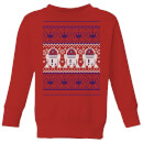 star-wars-r2-d2-knit-kids-christmas-sweatshirt-red-9-10-jahre-rot