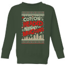 elf-cotton-headed-ninny-muggins-knit-kids-christmas-sweatshirt-forest-green-3-4-jahre-forest-green