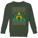 dc-aquaman-knit-kids-christmas-sweatshirt-forest-green-9-10-jahre-forest-green