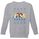 disney-princess-faces-kids-christmas-sweatshirt-grey-7-8-jahre-grau