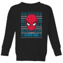 marvel-spider-man-kids-christmas-sweatshirt-black-3-4-jahre-schwarz
